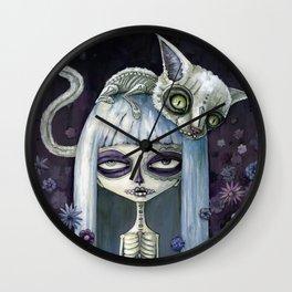 Felina de los muertos Wall Clock