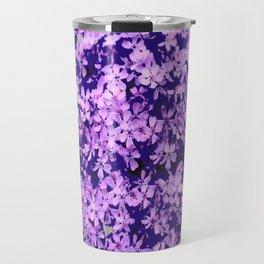 LILAC PURPLE SPRING PHLOX FLOWERS CARPET Travel Mug