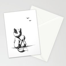 Fox and a rabbit Stationery Cards