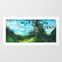 Cliffside Observatory Art Print