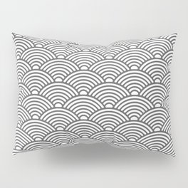 Japanese Waves (Grey & White Pattern) Pillow Sham
