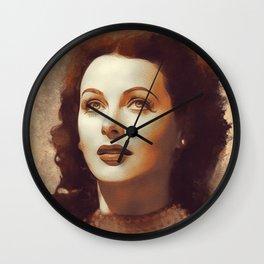 Hedy Lamarr, Hollywood Legend Wall Clock