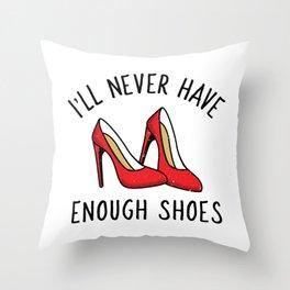 Shoe Collector Throw Pillow