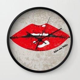 Kiss Me Mila Wall Clock