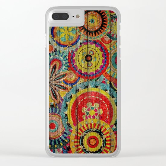 Kashmir on Wood 01 Clear iPhone Case