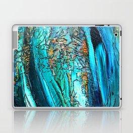 Doodle in blue Laptop & iPad Skin