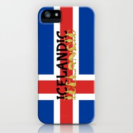 Icelandic Horses Cartoon iPhone Case
