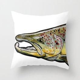 The atlantic salmon. Throw Pillow