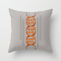 gaming Throw Pillows featuring Gaming DNA by Doodle Dojo