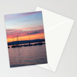 Sunset Lake Annecy Stationery Cards