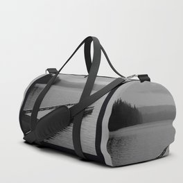 Suttle Lake in Gray and Black Duffle Bag