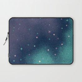 Lilac and Aqua Pixel Galaxy Laptop Sleeve