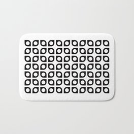 Geometric Pattern #37 (curves circles) Bath Mat