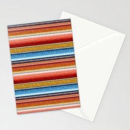 serape southwest stripe - red, blue, gold Stationery Cards
