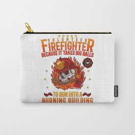 Volunteer Firefighter Hero Fireman Thin Red Line Carry-All Pouch