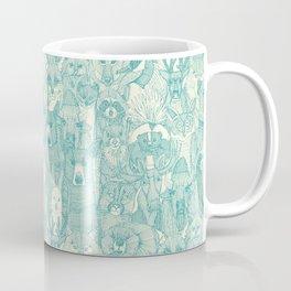 canadian animals teal pearl Coffee Mug