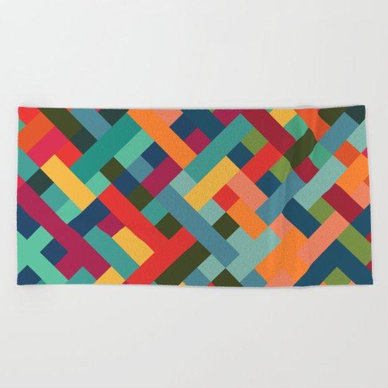 Weave Pattern Beach Towel