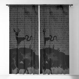 deer forest Blackout Curtain