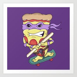 Pizza Donny Art Print