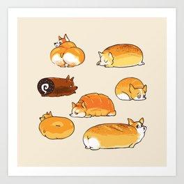Bread Corgis Art Print