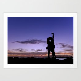 Picture a perfect kiss. Art Print