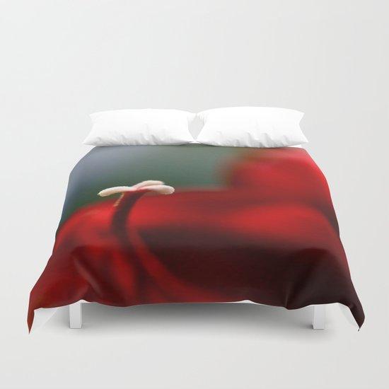 Red & White  Duvet Cover