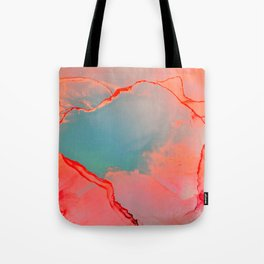 BETTER TOGETHER - LIVING CORAL by MS Tote Bag