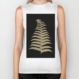 Fern Leaf Gold on Black #1 #ornamental #decor #art #society6 Biker Tank