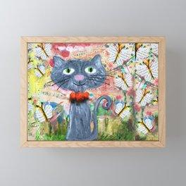 curious kitten Framed Mini Art Print