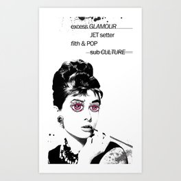 Delusional Lady Art Print