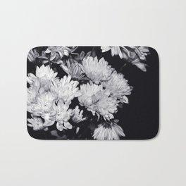 Flowers Black & White. Bath Mat