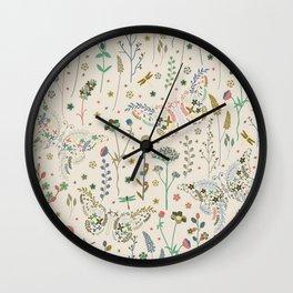 Abstract Botanical Artwork Wall Clock