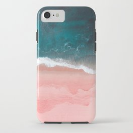 Turquoise Sea Pastel Beach III iPhone Case