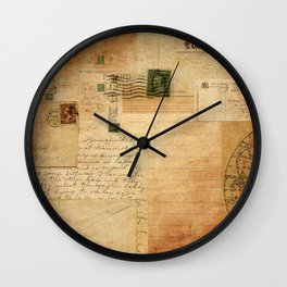 Vintage Collage Wall Clock