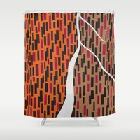 waterfall Shower Curtains featuring Waterfall by Sandyshow