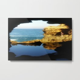 "Inside ""The Grotto"" Looking Out! Metal Print"