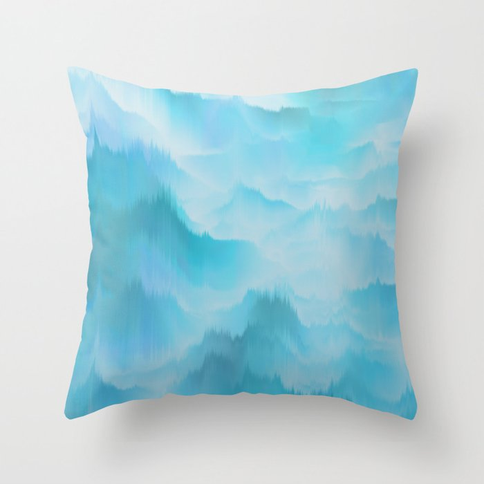 Clouds and mountains. Abstract. Throw Pillow