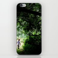 neverland iPhone & iPod Skins featuring Neverland by NishaJayne