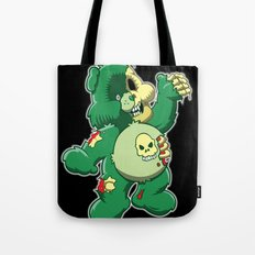 Zombie care bear Tote Bag
