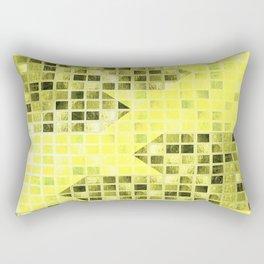 Abstract Yellow Arrows Pattern Rectangular Pillow