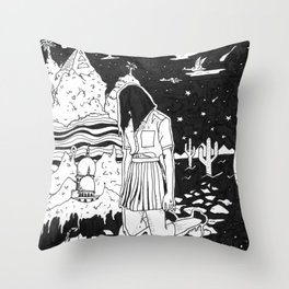 dunno Throw Pillow