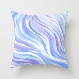 Swirly, Intuitive Abstract Art made with Acrylic Paint. Dream art. Flow Throw Pillow