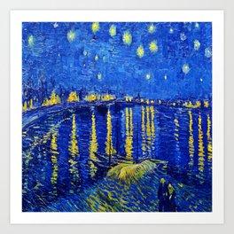 Van Gogh Starry Night Over the Rhone Art Print