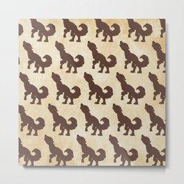 Werewolf Pattern Metal Print