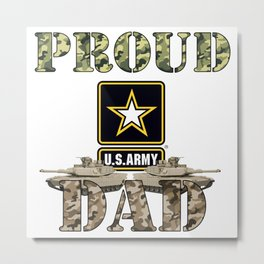 Proud USA ARMY Dad Metal Print