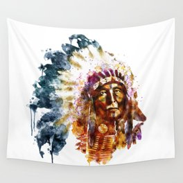 Native American Chief Wall Tapestry