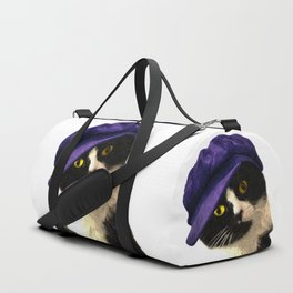 Cat Blue Hat Duffle Bag