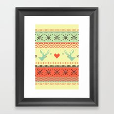 Holiday Pixels Framed Art Print