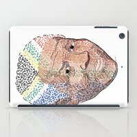 mandela iPad Cases featuring Nelson Mandela by Adrienne S. Price