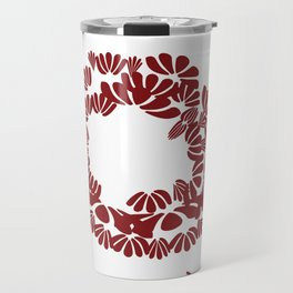 Brick Red: a strong foundation Travel Mug